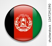 flag of afghanistan. round... | Shutterstock . vector #1347291590