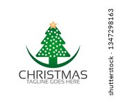 christmas logo template | Shutterstock .eps vector #1347298163
