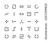 Arrow Silhouette Icons Set...
