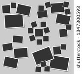 set of square vector photo... | Shutterstock .eps vector #1347300593
