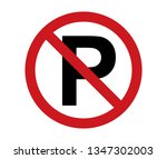 no parking sign icon red and... | Shutterstock .eps vector #1347302003