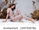 fashion beauty model curly dark ... | Shutterstock . vector #1347320786