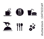 food icon set | Shutterstock .eps vector #1347322169