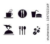 food icon set | Shutterstock .eps vector #1347322169