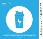 blue fitness shaker icon... | Shutterstock .eps vector #1347337169