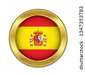 simple round spain golden badge ...