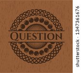 question retro style wood emblem | Shutterstock .eps vector #1347361676