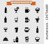 drinks icon set vector | Shutterstock .eps vector #134736680