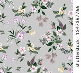 seamless floral pattern in... | Shutterstock .eps vector #1347367766