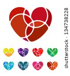 design love heart vector logo... | Shutterstock .eps vector #134738228