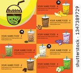 bubble tea menu graphic template | Shutterstock .eps vector #1347389729