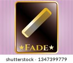 gold emblem or badge with hair ... | Shutterstock .eps vector #1347399779