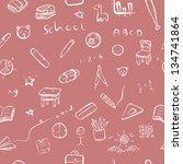 back to school   cartoon art... | Shutterstock .eps vector #134741864