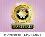 gold badge with business... | Shutterstock .eps vector #1347432836