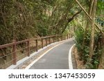 small road by trees with nobody ... | Shutterstock . vector #1347453059