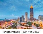 atlanta  georgia  usa downtown... | Shutterstock . vector #1347459569