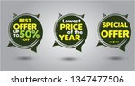 green and yellow lowest price... | Shutterstock .eps vector #1347477506