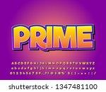 modern trendy gradient cartoon... | Shutterstock .eps vector #1347481100
