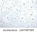 water drops on glass | Shutterstock . vector #1347487589
