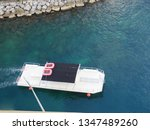 aerial view of the a white tour ... | Shutterstock . vector #1347489260