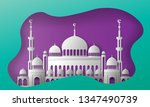 turkish islamic mosque  purple... | Shutterstock .eps vector #1347490739