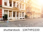 sunlight shines on the empty... | Shutterstock . vector #1347492233