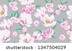 seamless spring pattern with...   Shutterstock .eps vector #1347504029