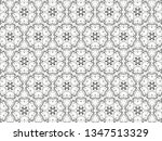 ornament with elements of black ... | Shutterstock . vector #1347513329