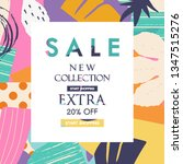 sale website banner. sale tag.... | Shutterstock .eps vector #1347515276