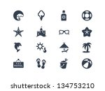 summer and beach icons | Shutterstock .eps vector #134753210