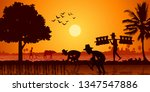 country life of asia farmer... | Shutterstock .eps vector #1347547886