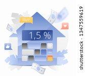mortgage loan calculator vector ... | Shutterstock .eps vector #1347559619