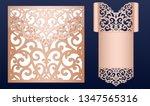 laser cut wedding invitation... | Shutterstock .eps vector #1347565316