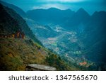 amazing mountain landscape at...   Shutterstock . vector #1347565670