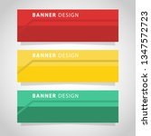 vector abstract web banner... | Shutterstock .eps vector #1347572723