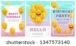 birthday greeting card... | Shutterstock .eps vector #1347573140