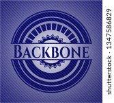 backbone badge with denim... | Shutterstock .eps vector #1347586829