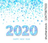 2020 happy new year greeting... | Shutterstock .eps vector #1347587033