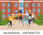 young people of different races ... | Shutterstock .eps vector #1347606713