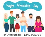 happy friendship day greeting... | Shutterstock .eps vector #1347606719