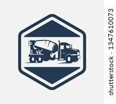 concrete truck line icon...   Shutterstock .eps vector #1347610073