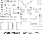 iron pipe and piping   Shutterstock .eps vector #1347610793