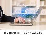 business woman below chest...   Shutterstock . vector #1347616253