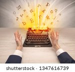 first person perspective image...   Shutterstock . vector #1347616739