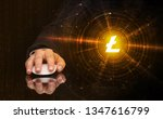 hand using wireless mouse with...   Shutterstock . vector #1347616799