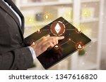 business woman using tablet...   Shutterstock . vector #1347616820