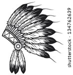 native american indian chief... | Shutterstock .eps vector #134762639