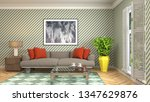 interior of the living room. 3d ... | Shutterstock . vector #1347629876
