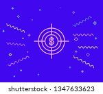 happy style money target icon....   Shutterstock .eps vector #1347633623