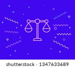 happy style libra  scale icon....   Shutterstock .eps vector #1347633689